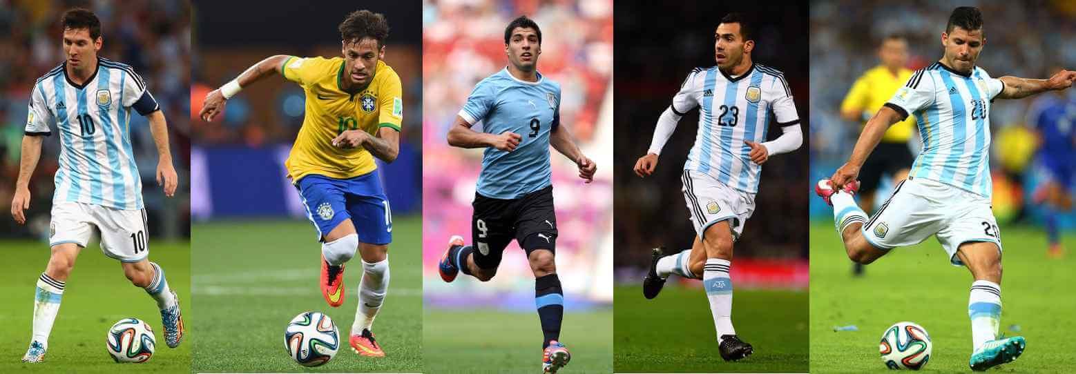 top 5 contenders of Copa America 2015 golden boot