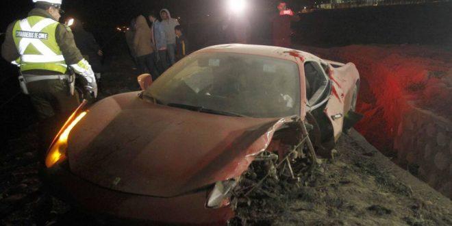 Arturo Vidal Car Accident Photos Of Chile Footballer