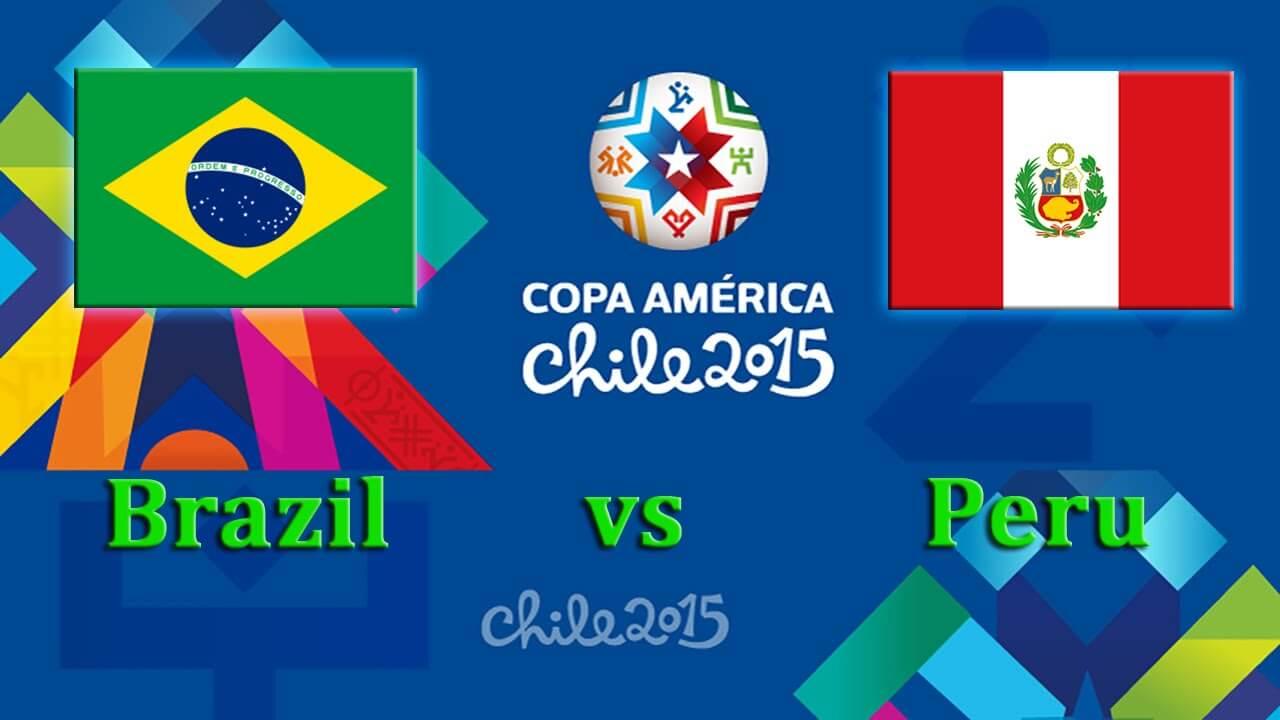 Brazil vs Peru Live Streaming 2015 Copa America
