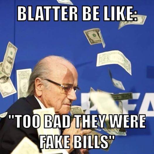 Funny Memes On Money Thrown On FIFA President Sepp Baltter