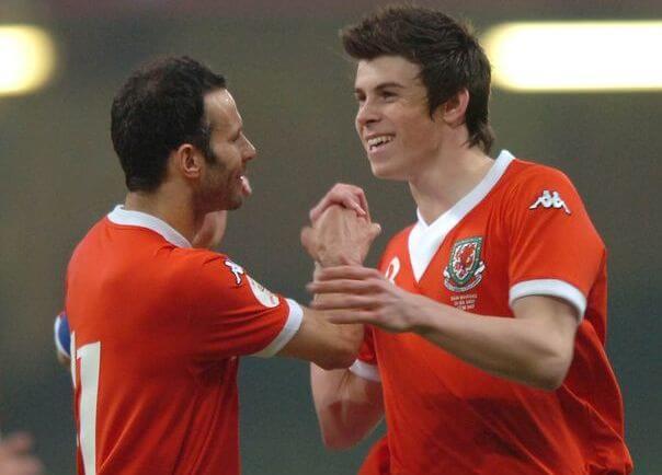 Gareth Bale with Ryan Giggs