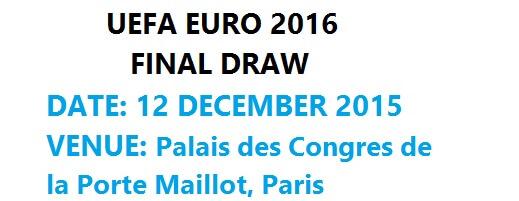 euro 2016 final draw schedule footballwood. Black Bedroom Furniture Sets. Home Design Ideas