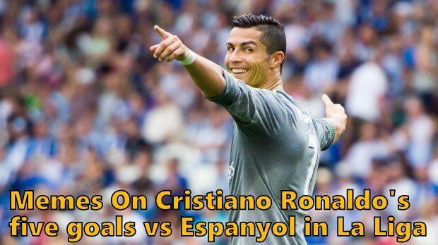 Memes On Cristiano Ronaldo's five goals