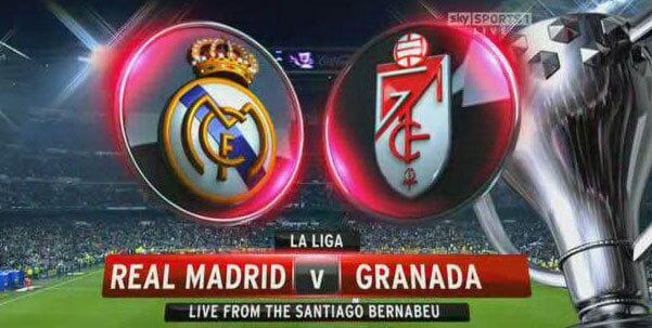 Real Madrid vs Granada telecast in India