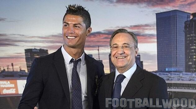 Crisitiano Ronaldo with Florentino Perez