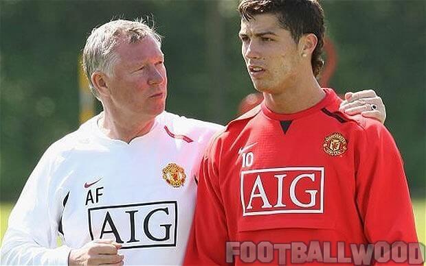 Sir Alex Ferguson with Ronaldo