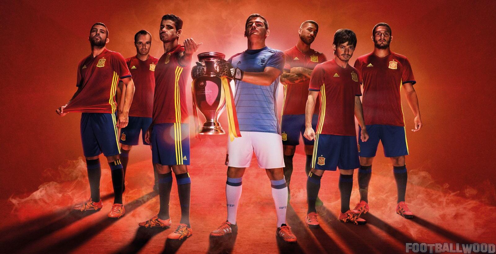 Spain Euro 2016 home kits