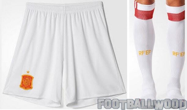 Spain euro 2016 away shorts and socks