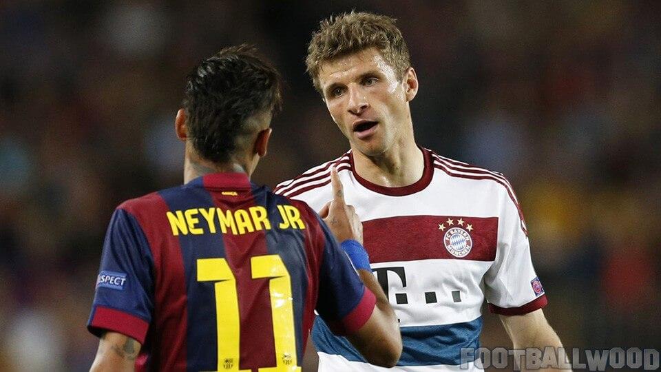 Neymar vs Muller stats