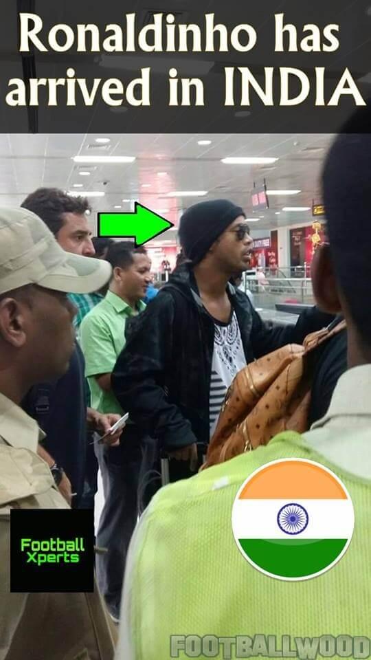 Ronaldinho in India