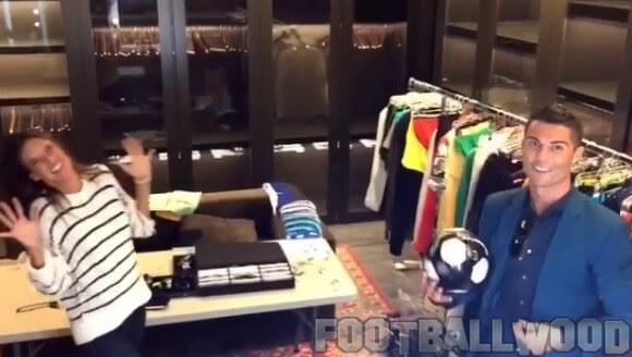 Ronaldo with Alessandra Ambrosio