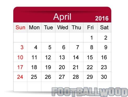 April 2016 Calendar Images