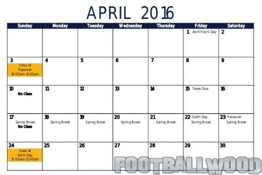 April Calendar Days : Football calendar matches in april footballwood