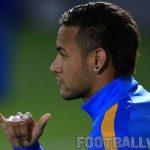 Neymar during Barcelona training