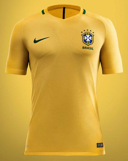 Brazil Copa America 2016 Home Jersey