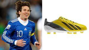 Picture 2.4. Lionel Messi and the Addidas F50 adiZero.